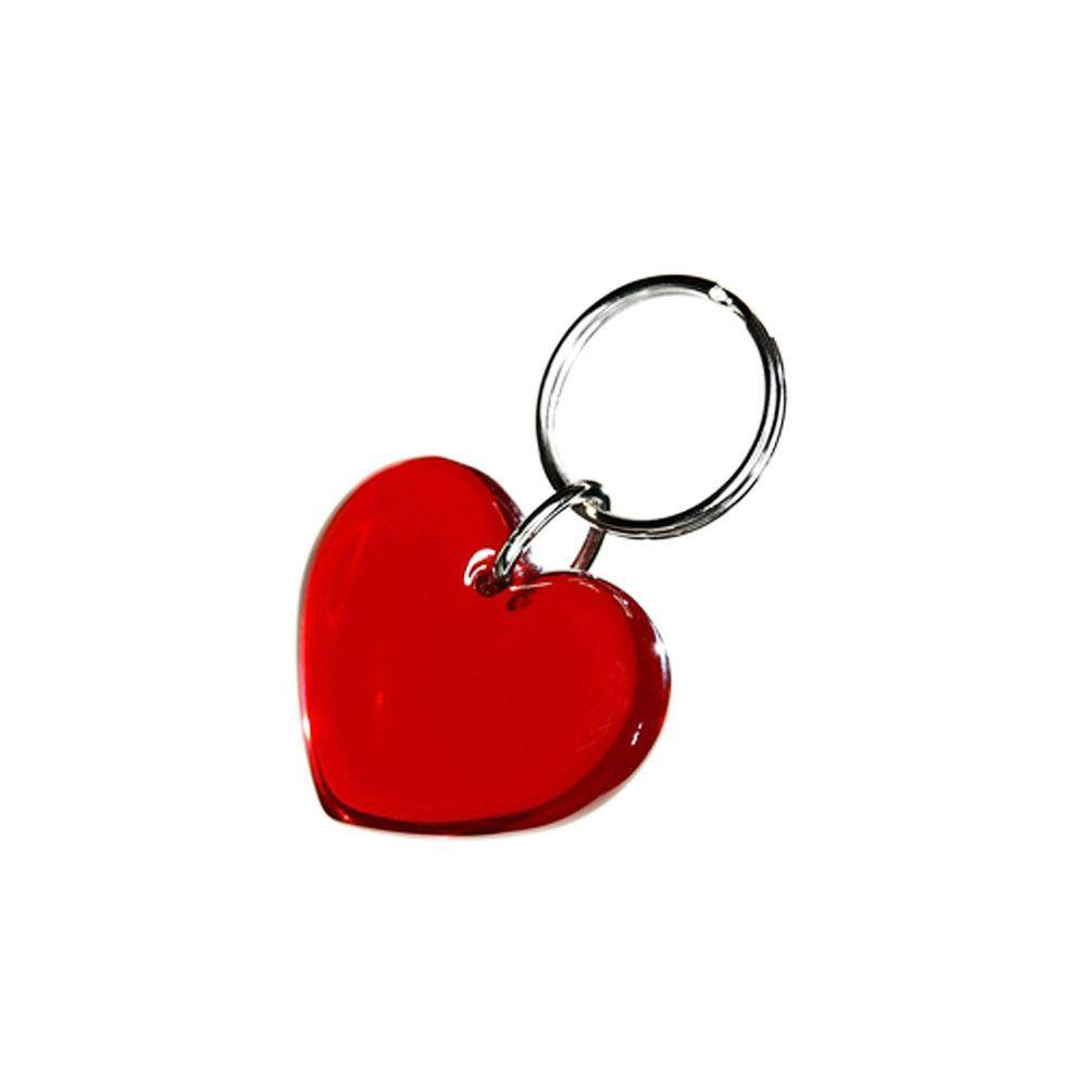 Брелок в форме Сердце красного цвета 244035 под нанесение логотипа