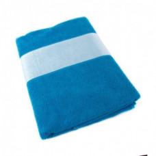 Сині рушник з білим бордюром