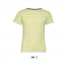 Детская футболка с круглым воротом в полоску SOL'S MILES KIDS 014007