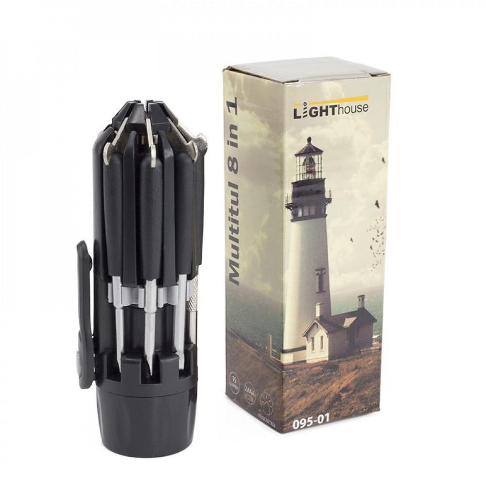 Мультифункціональний ліхтарик Multilight з LED лампами і набором викруток виробництва Lighthouse під логотип