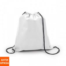 Рюкзак-мішок rancel з нетканого матеріалу 80 г / м2 з 2-ма чорними лямками, 35х42 см