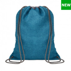 Рюкзак-мішок TOCAYO з поліестеру 1200D з 2-ма сірими лямками, 35х43 см