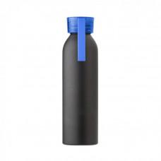 Пляшка для пиття в матовому, металевому корпусі з кольоровою кришкою, під гравіювання