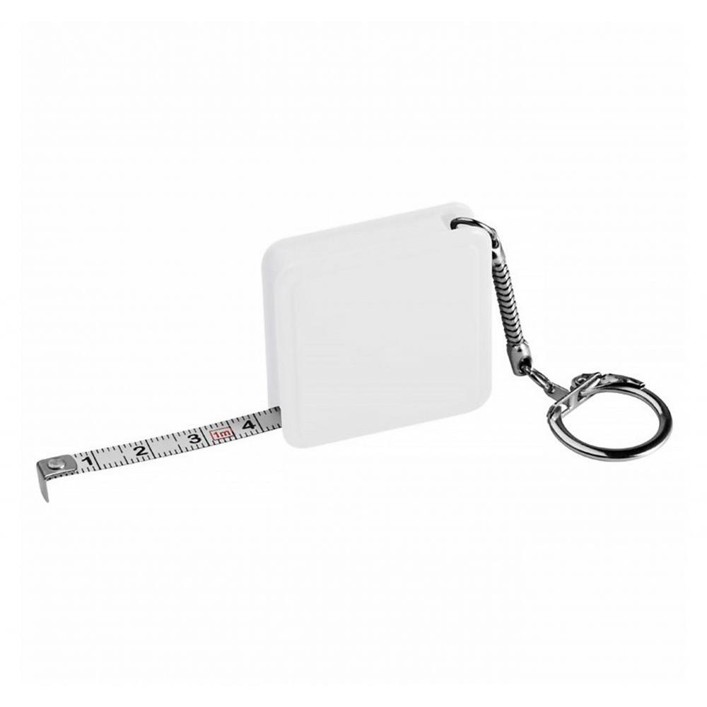 Брелок в форме рулетки, с названием Meter, производства Discover, квадратной формы под тампо-печать