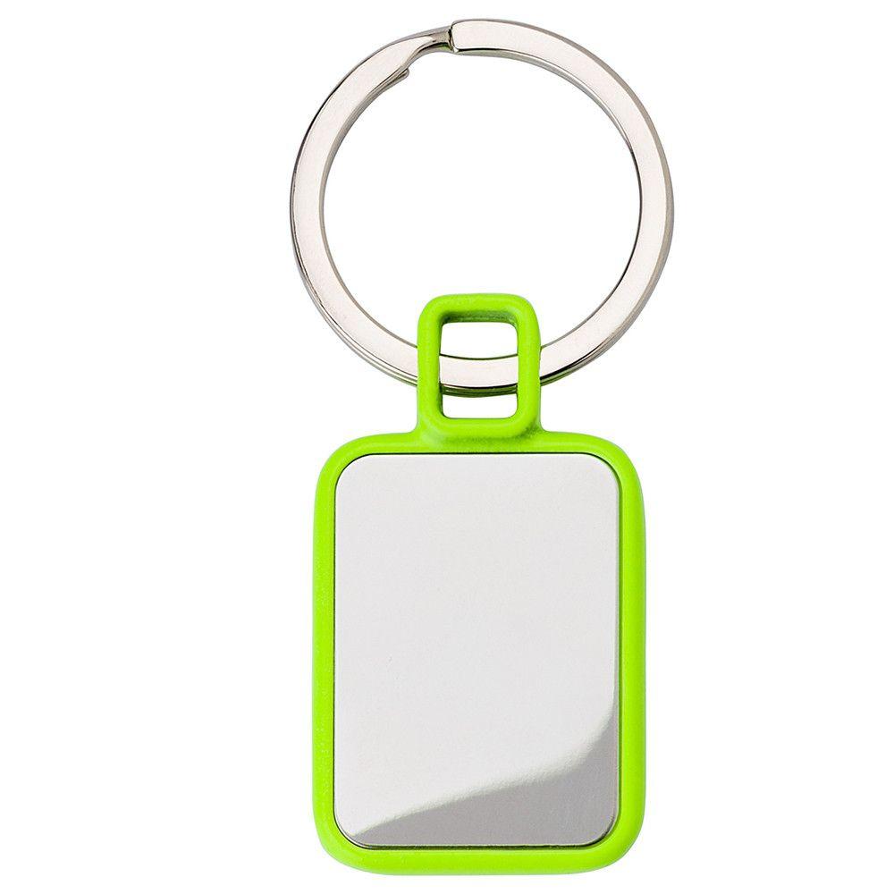Брелок металевий з пластиковими кольоровими вставками під гравіювання 956983
