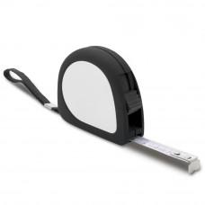 Рулетка в пластиковом, матовом корпусе, длина ленты 3 метра с фиксатором, 953143, под тампо-печать
