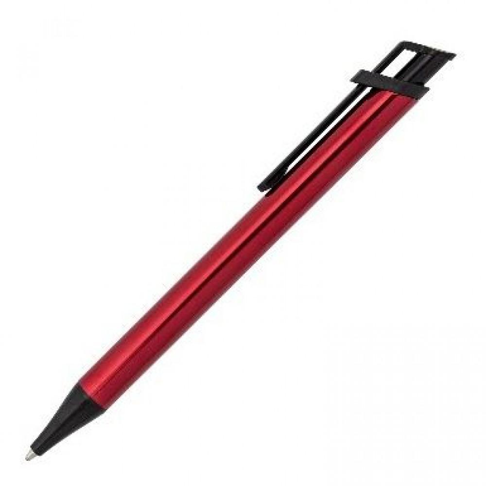 Ручка с названием IDA, выполнена в металлическом корпусе с черными элементами, 11N12B, под гравировку