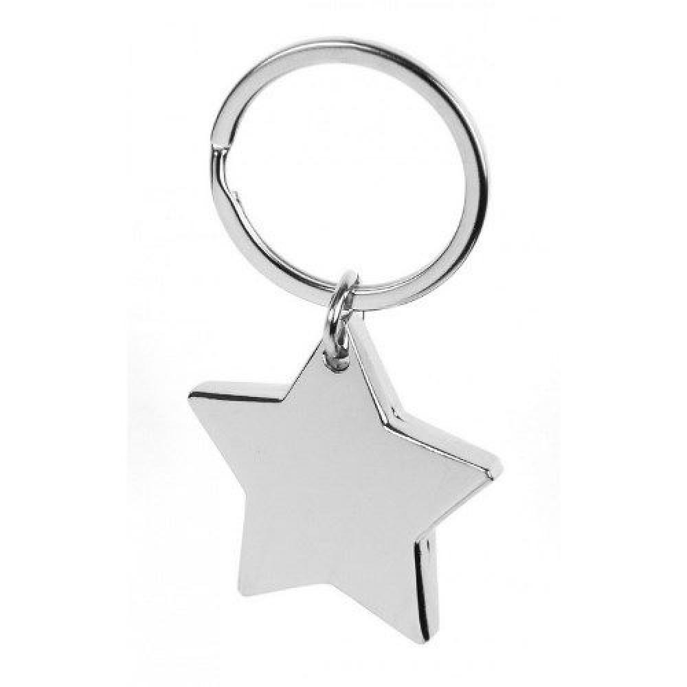 Брелок металевий у формі зірки ТМ Бергамо 0450BR