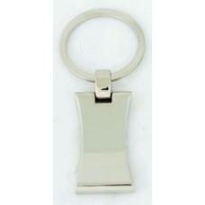 Брелок металевий з вигнутою формою № 24