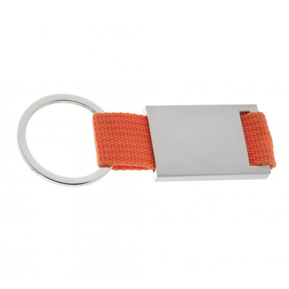 Брелок металлический на цветном ремешке для ключей Sqerbis под гравировку