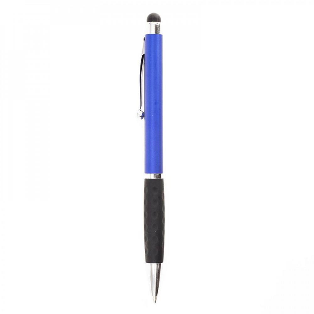 Ручка пластиковая в цветном корпусе с хромированными элементами и стилусом 7062 под печать