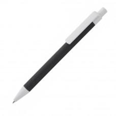Ручка під назвою Ecolour з переробленого кольорового картонна з білими пластиковими елементами 731650 під логотип