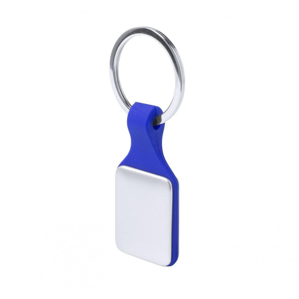 Брелок з пластиковою кольоровою основою і металевими вставками для ключів Kaelis під гравіювання