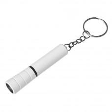 Брелок-ліхтарик із пластику в білому корпусі з кольоровим обідком 957733 під логотип