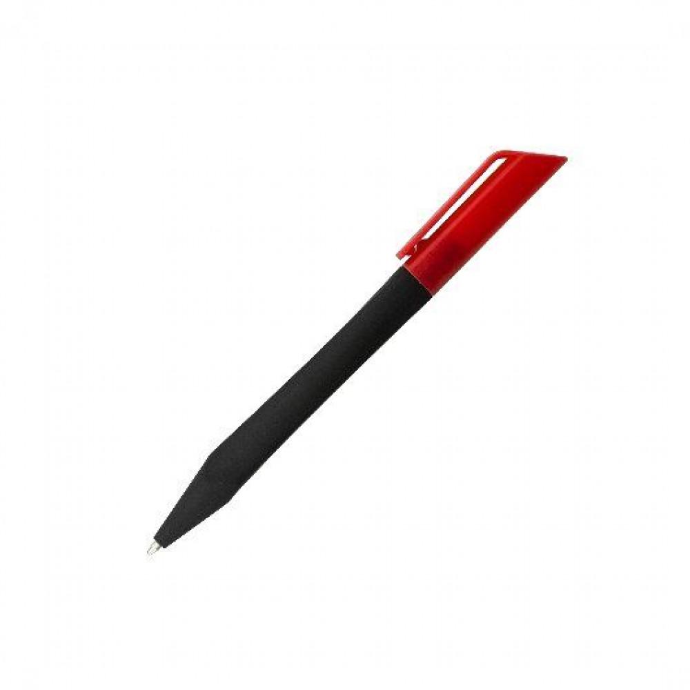 Ручка виконана з Soft Touch покриттям у формі спіралі і кольоровим кліпом TRESA під тампо-друк